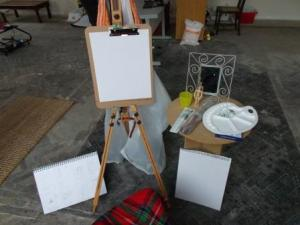 Ready to Paint! At the studio...